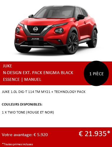 JUKE N-DESIGN TECH PACK 1 STUK FR 122020
