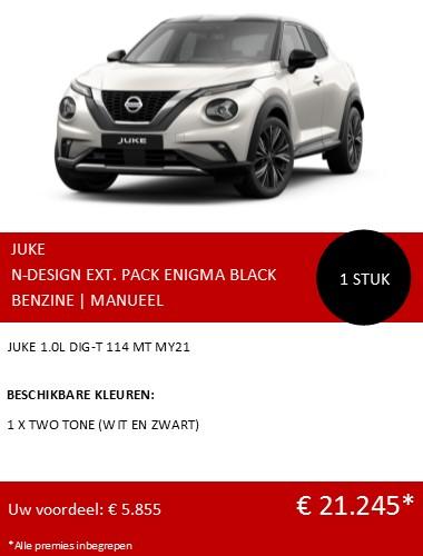 JUKE N-DESIGN WIT EN ZWART NL 122020